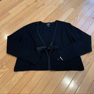 Eileen Fisher Black Tie Front Cardigan size small